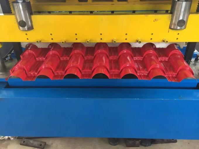 8000Kgs High Precision Glazed Steel Tile Roll Forming Equipment with PLC Control
