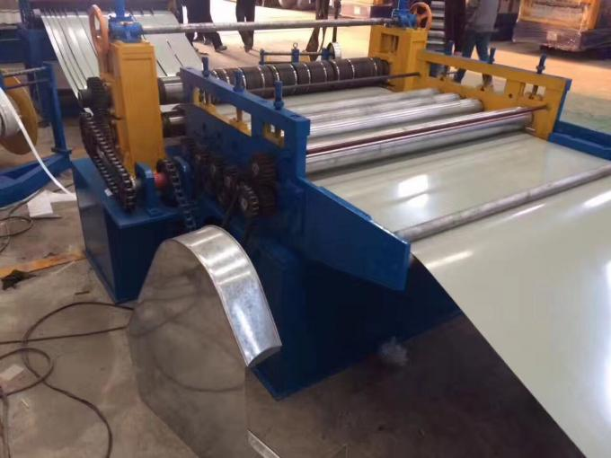 20m X 6m Steel Slitting Machine 1 Year Warranty 210Kw Steel Coil Slitting Line
