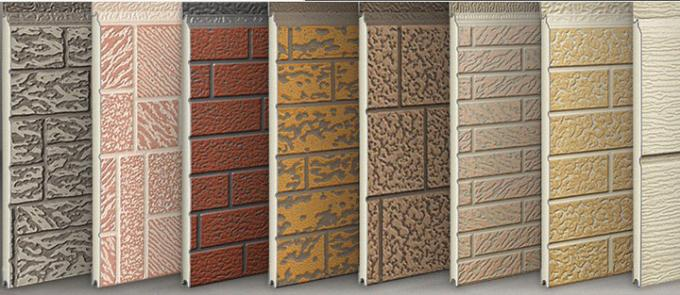 38 Kg / M3 Embossed Exterior PU Sandwich Wall Panel Thermal Insulation 380mm