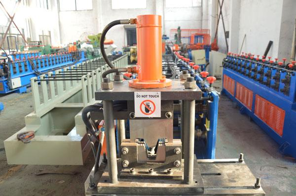 Durable Omega  Shape Metal Stud Roll Forming Machine / 5.5KW Main Motor Power Furring Channel Equipment
