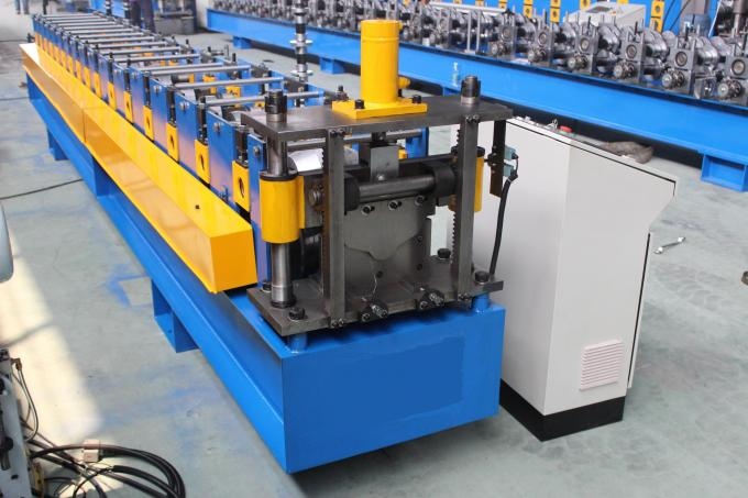 PLC Control Roof Ridge Cap Roll Forming Machine For Galvanized Steel Sheet