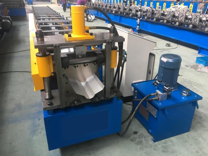 Roof Ridge Cap Roll Forming Machine 0.3 - 0.6mm Corrugated Sheet Roll Forming Machine