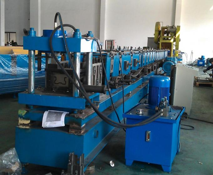Blue Rack Roll Forming Machine , Upright Roll Forming Machine Controlled By PLC System