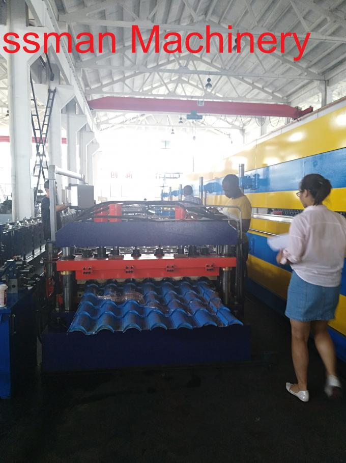 Building Material Roof Panel Roll Forming Machine , Trapezoidal Profile Sheet Roofing Machine