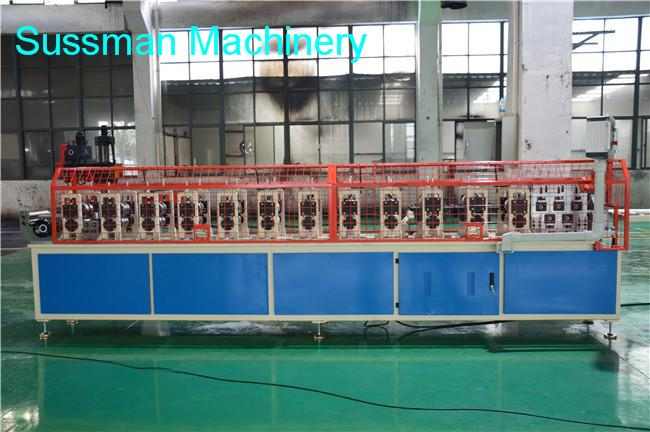 Top Hat Roof Channel Roll Forming Machine , Metal Rolling Machine With Bottom Embossing