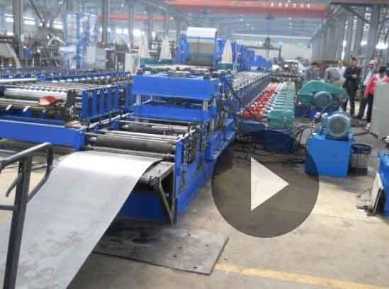 Gear Box Transmission Guardrail Roll Forming Machine Punching Press Automatic cutting