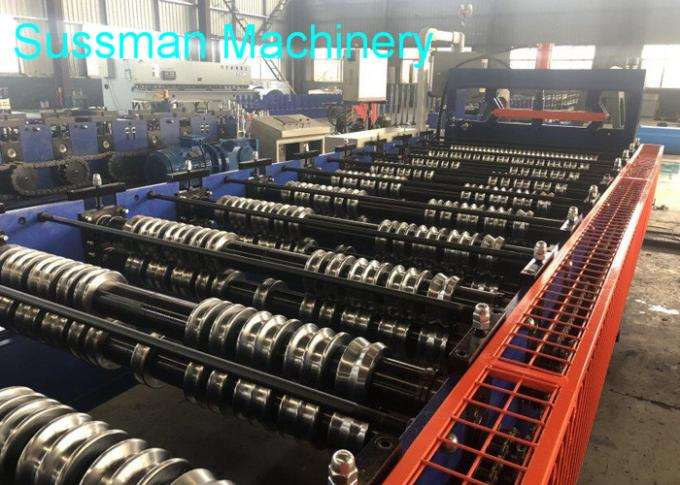 Building Material Ridge Capping Metal Roll Forming Machine For Roof , Low Noise