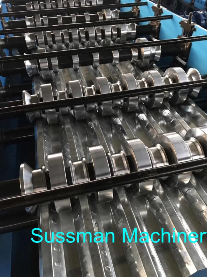 Building Material Metal Floor Decking Sheet Roll Forming Machine With Embossing Roller