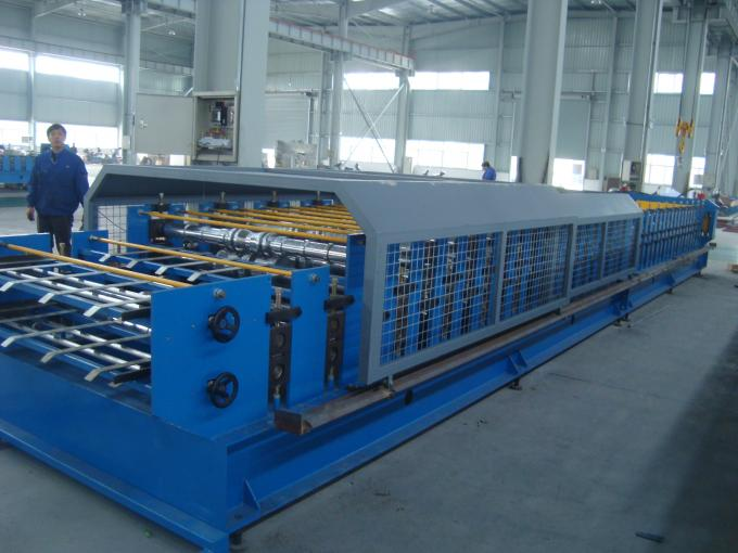 5 Ton Passive Decoiler Double Layer Roll Forming Equipment 20 Station Roller