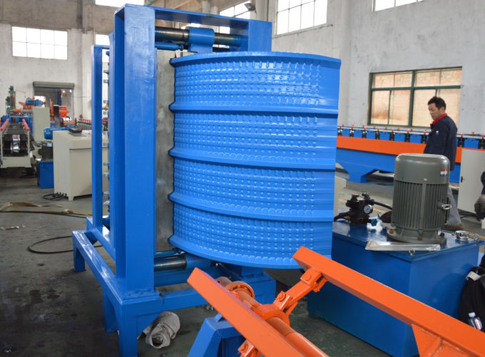PLC Touch Screen Control Roll Forming Equipment For Steel Silo Roll Former