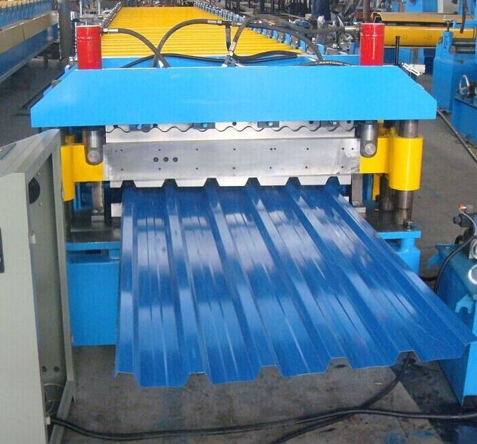 Metal Corrugated Roof Panel Roll Forming Machine  Roller Making Machine 7.5 Kw
