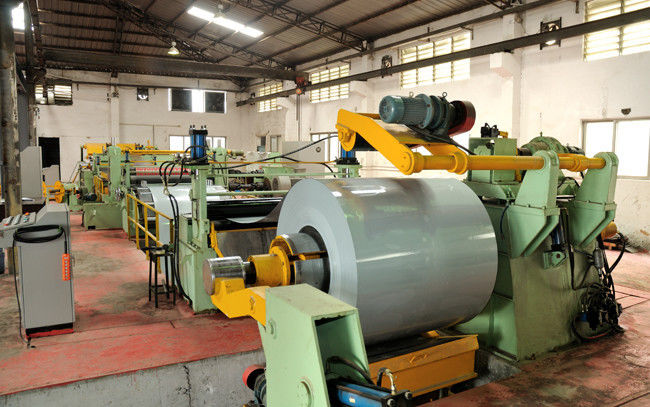 Simple Galvanized Steel Slitting Lines , High Speed Cut To Length Steel Slitting Machine
