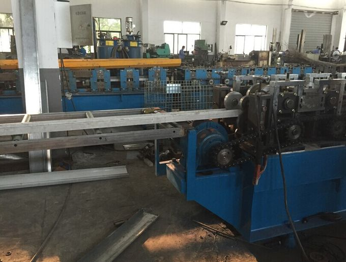 Galvanized Steel Curtain Fire Damper Frame Flange Roll Forming Machine Production Line Speed 6-10m/min
