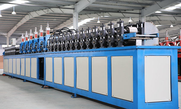 Galvanized Steel Tee Grid Roll Forming Equipment PLC T Grid  Bar Product Line High Speed