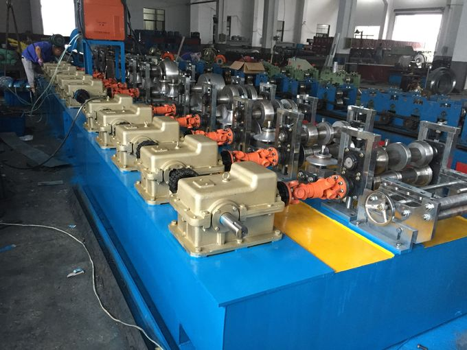 Pipe Mill  Gearbox Drive High Frequency Square Tube Production LineRoller Machine PLC Control