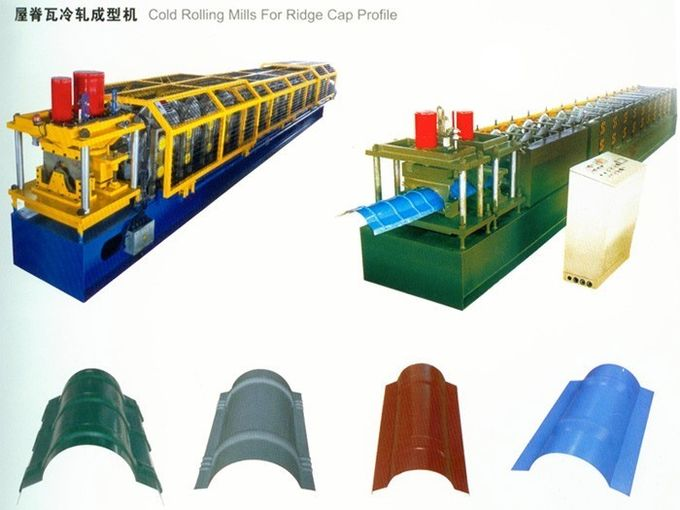 0.3mm - 0.8mm High Speed Ridge Cap Roll Forming Machine 380V 50HZ 3 Phase